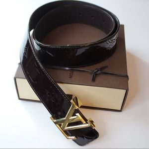 Accessories - Louis Vuitton Monogram Vernis belt Amarante